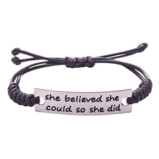 JANE STONE Fashion Inspirational Leather Bracelets Silver Plated Ornaments for Women Girls