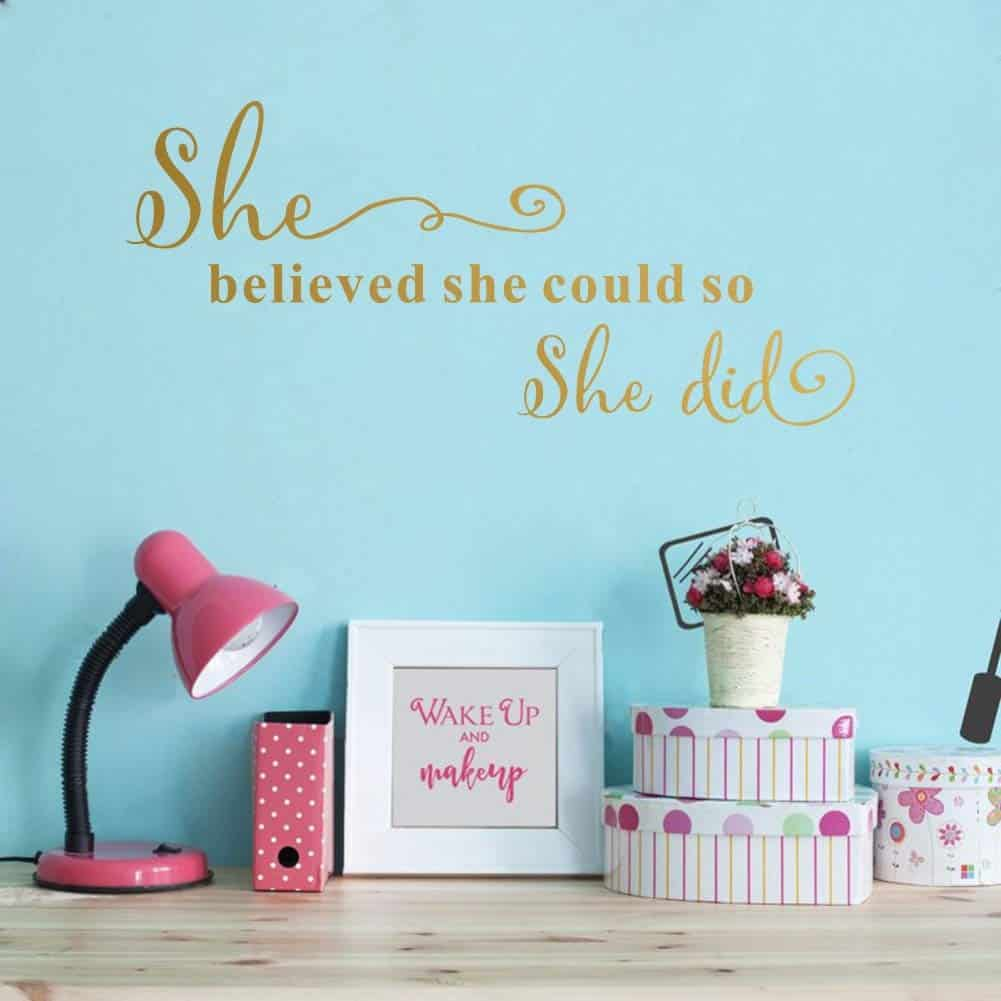 She Believed She Could So She Did Wall Sticker