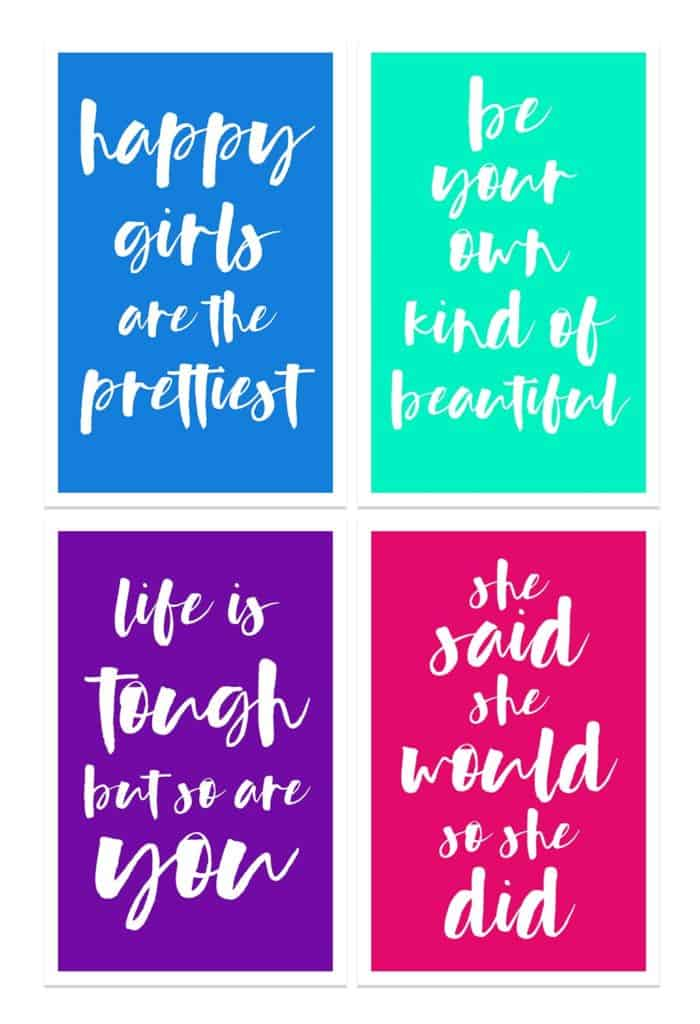 Damdekoli Girls Motivational Quote Posters, Set of 4