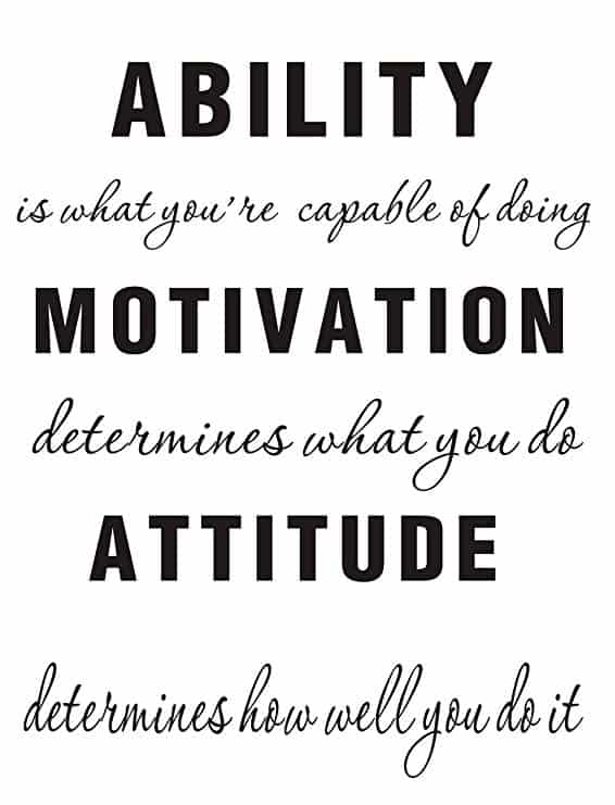 LUCKKYY Large Ability is What You're Capable of Doing Motivation Attitude