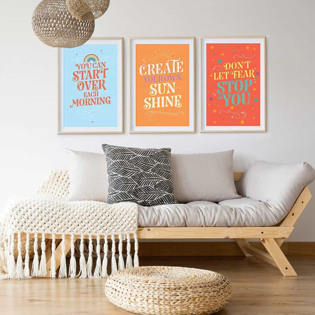 Pillow & Toast Inspirational College Dorm Posters for Girls