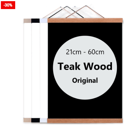 Poster Hanger Wooden Hanging Wall Art For Home Decor