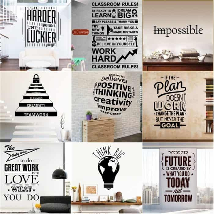 Quote Sticker Motivational Wall Décor