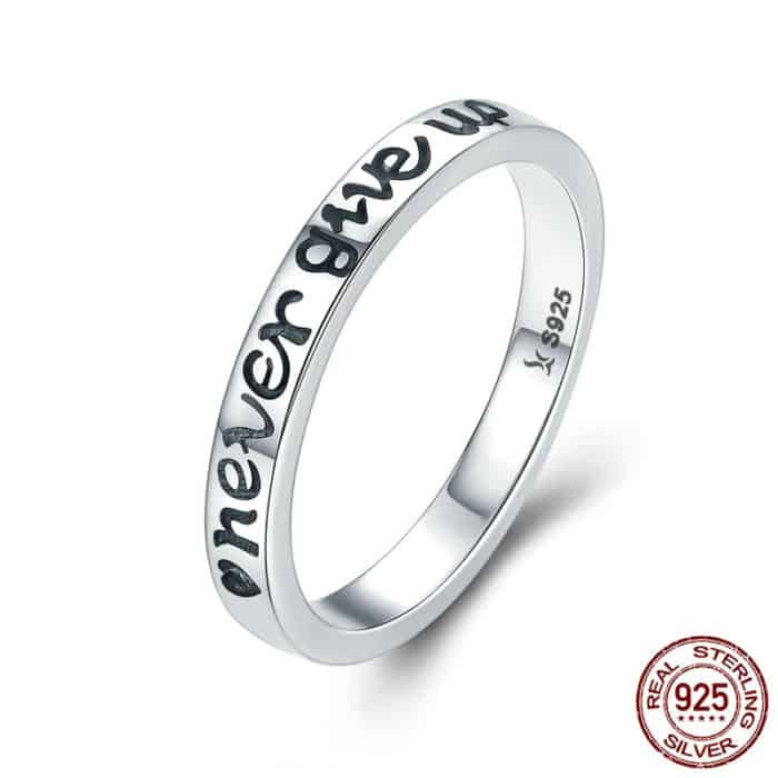 Silver Band Ring Women's Jewelry
